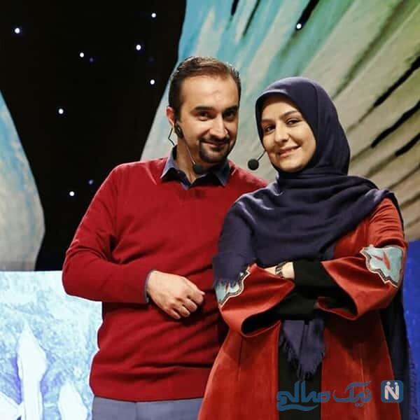 نیما کرمی مجری معروف و همسرش
