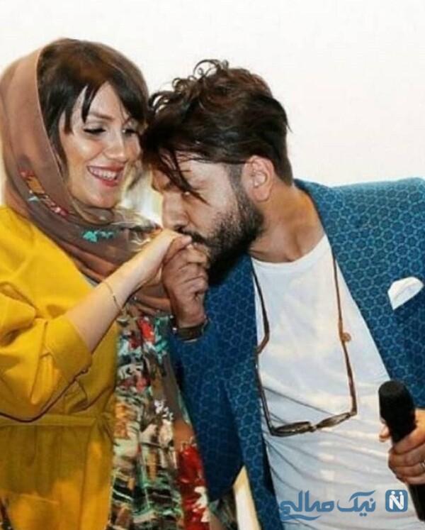 تصویر عاشقانه عباس غزالی و همسرش