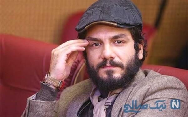 تصویر عاشقانه و شیک عباس غزالی بازیگر کم حاشیه و همسرش