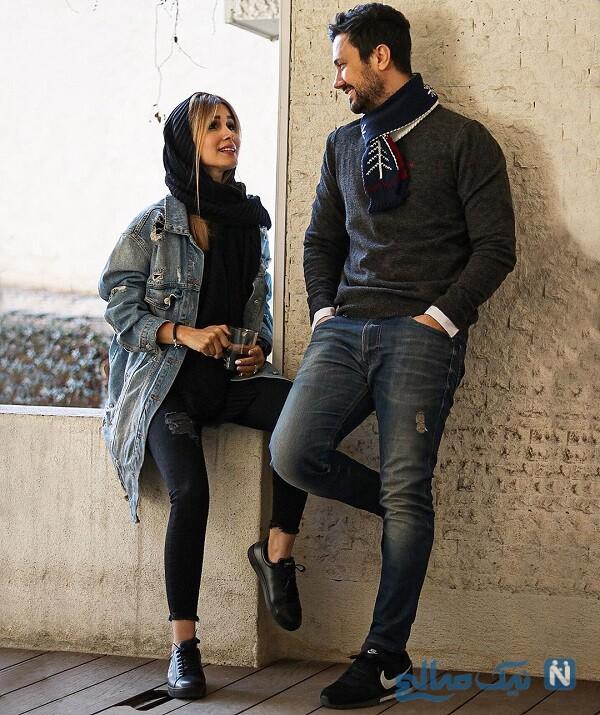 سپیده بزمی پور و همسرش