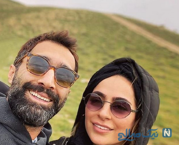 سمانه پاکدل بازیگر معروف و همسرش
