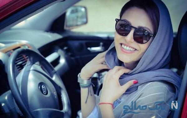 سوگل خلیق بازیگر ایرانی در خودرو شخصی اش