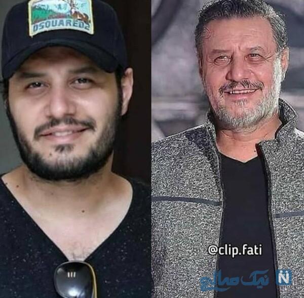 عکس پیری بازیگران و جواد عزتی