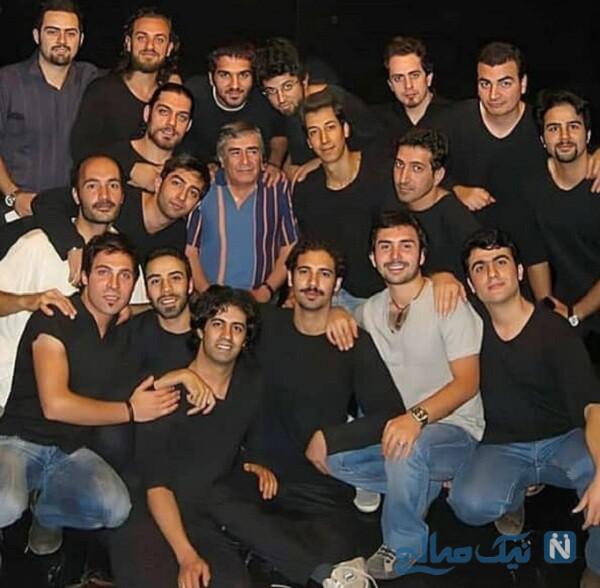 بهرام افشاری و علی سخنگو بازیگر در آموزشگاه استاد سمندریان
