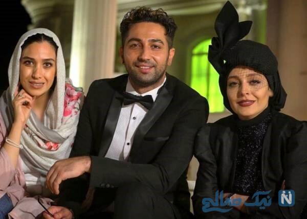 سارا نجفی در کنار بازیگران سریال دل