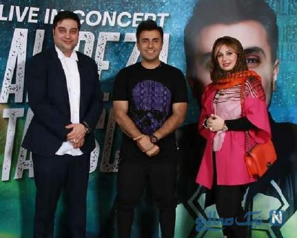 نیوشا ضیغمی و همسرش در کنسرت علیرضا طلیسچی