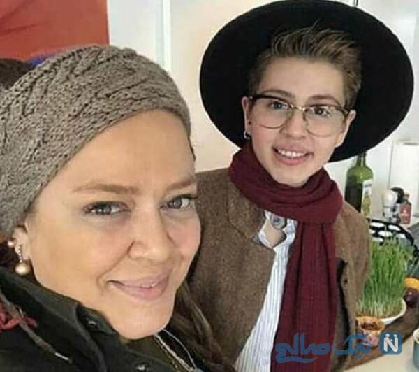 خانم بازیگر و دخترش پریا