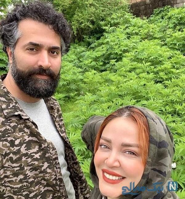 عکس تندیس بهاره رهنما و خانم بازیگر در کنار همسرش