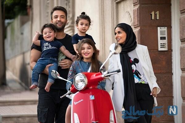 عکس خانوادگی خواننده پاپ