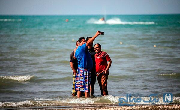 خوشگذرانی مردم در سواحل مازندران و بوشهر