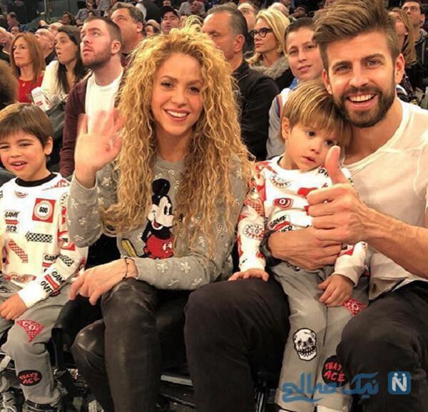 شکیرا و همسر و فرزندانش