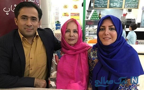 المیرا شریفی مقدم و مادرش به اتفاق همسرش