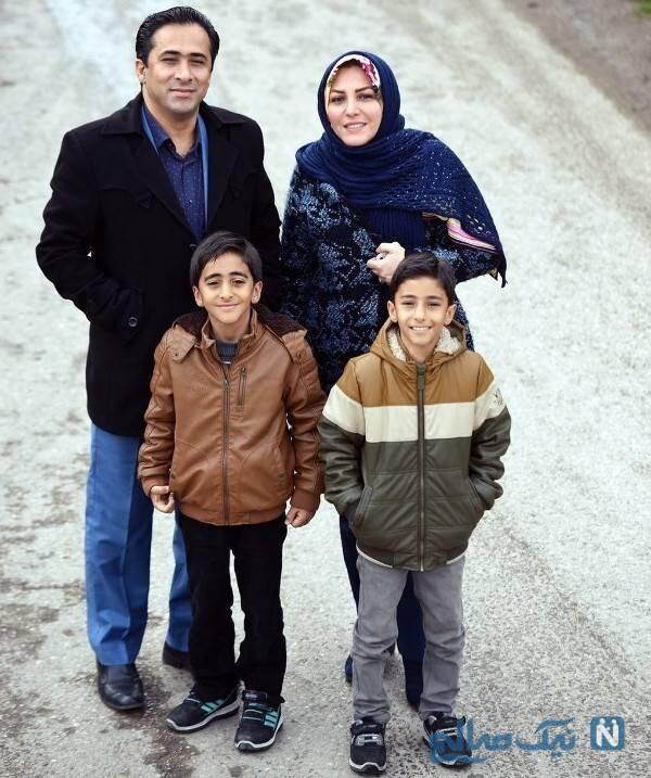 المیرا شریفی مقدم درکنار همسر و فرزندانش