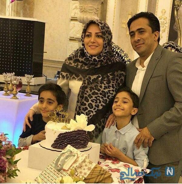 عکس خانوادگی زوج خبری