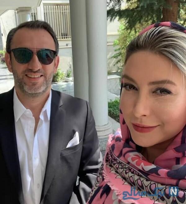 فریبا نادری و همسرش مهرداد طباطبایی