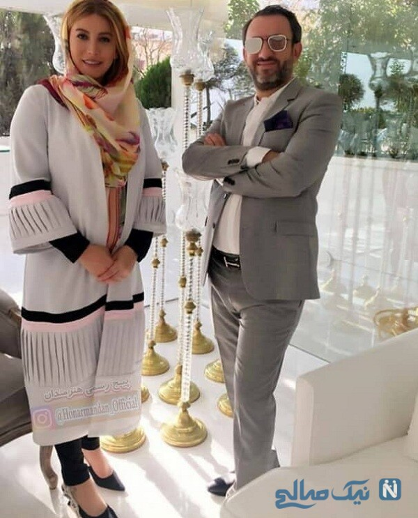عکس جدید فریبا نادری و همسرش