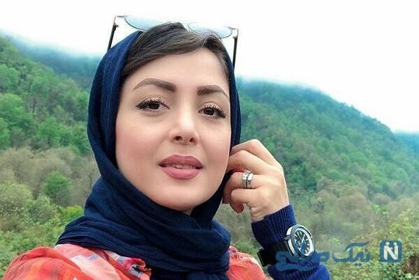 لیلا سعیدی مجری و بازیگر در کنار همسرش