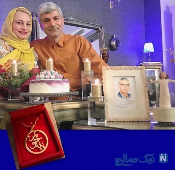 جشن تولد مریم کاویانی درکنار همسرش