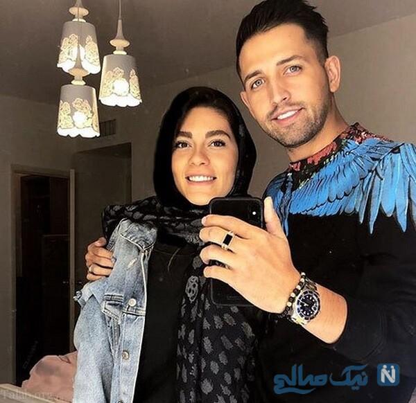تصویری از محسن افشانی و همسرش در کربلا