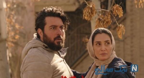 گریم محسن کیایی و هدیه تهرانی در پشت صحنه سریال هم گناه
