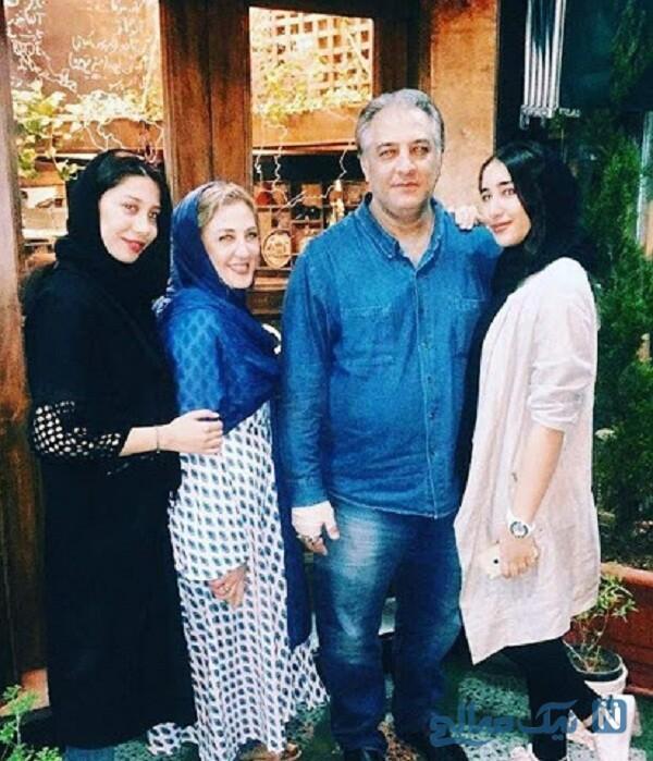 عکس ایرج نوذری و دخترانش درکنار همسرش