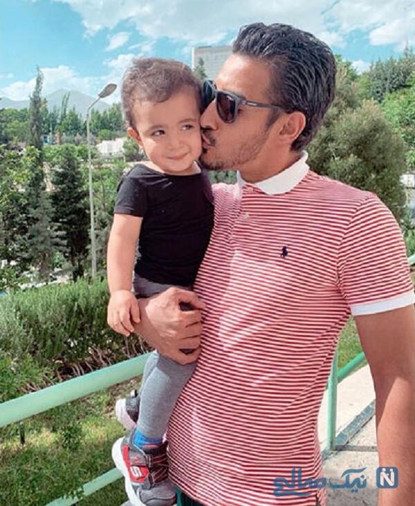 عکس جدید رضا قوچان نژاد و پسرش دوران