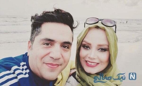 صبا راد در کنار همسرش مانی رهنما