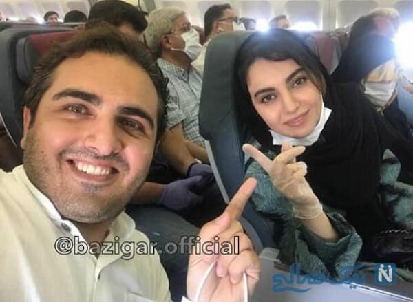 سلفی مهشید جوادی و سعید کریمی بازیگر بچه مهندس