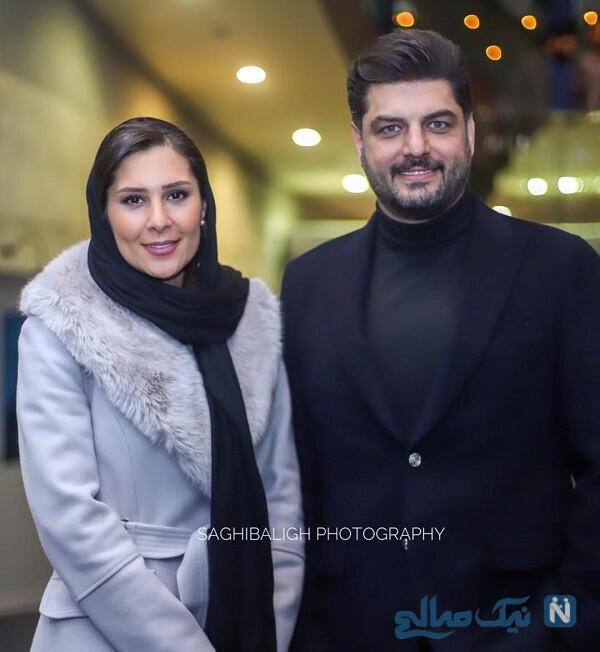 بازیگر مرد و همسرش