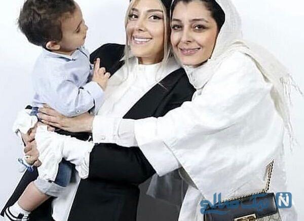 ساره بیات درکنار خواهر و خواهرزاده اش