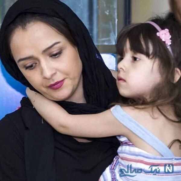 بازیگر زن و دخترش