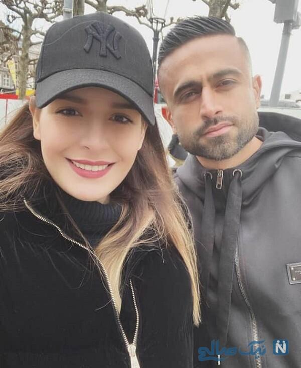 همسر امید ابراهیمی فوتبالیست