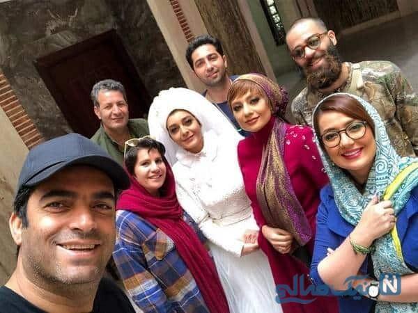 منوچهر هادی و یکتا ناصر در پشت صحنه سریال دل