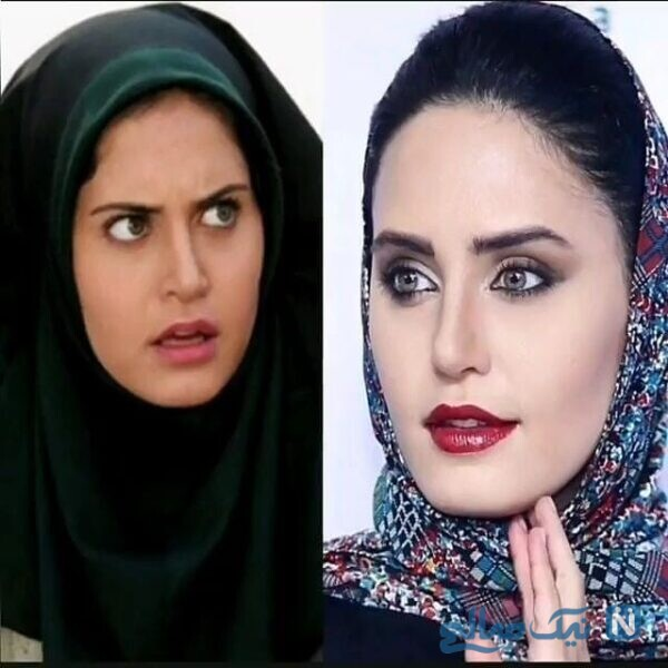 چهره با حجاب خانم بازیگر