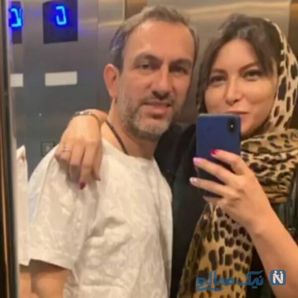 فریبا نادری بازیگر و همسرش