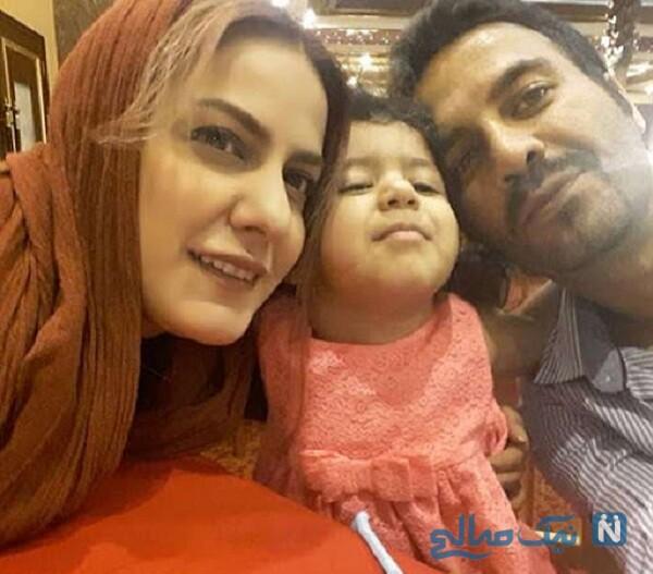 مهسا مهجور بازیگر درکنار همسر و دخترش