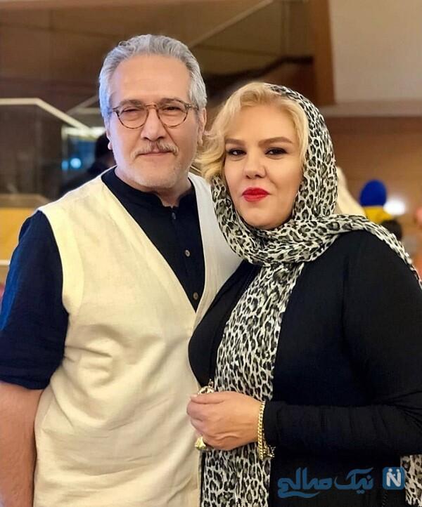 عکس جدید خانم بازیگر و همسرش در هم گناه