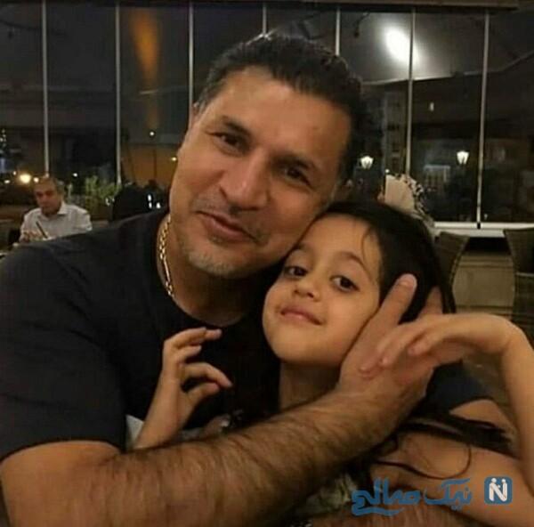 تصویری جدید از علی دایی و دخترش نورا
