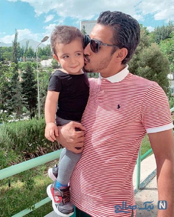 تولد پسر رضا قوچان نژاد فوتبالیست