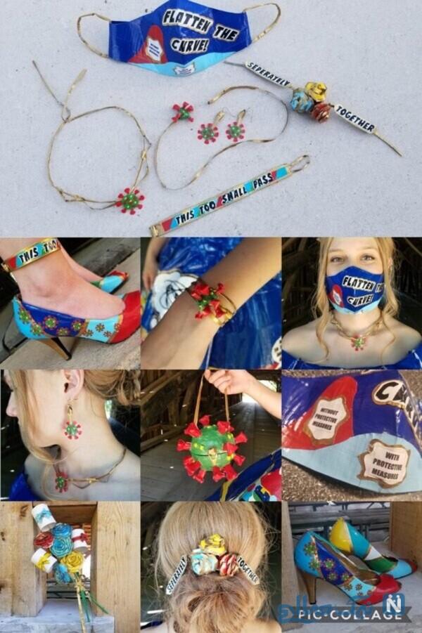 کار خلاقانه دختر نوجوان