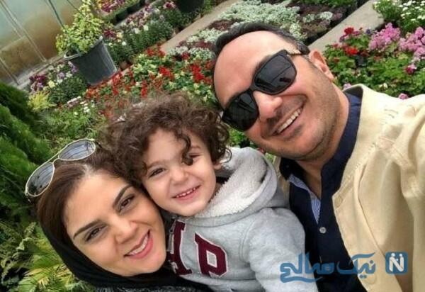 همسر و پسر بازیگر ایرانی