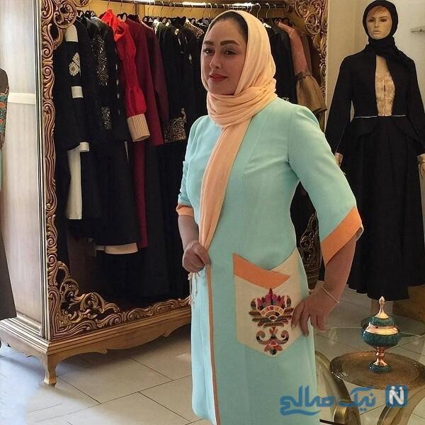 خانم بازیگر در بزرگترین مزون لباس تهران