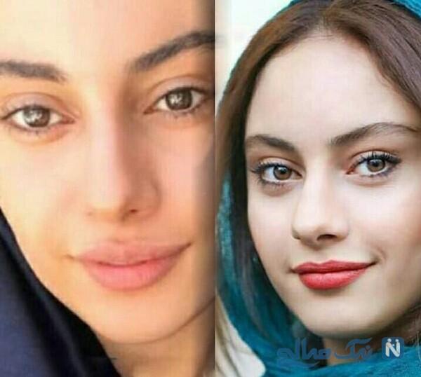 ترلان پروانه و چهره بدون آرایش بازیگران ایرانی