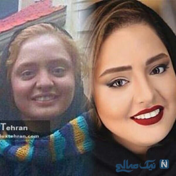 چهره بدون آرایش نرگس محمدی