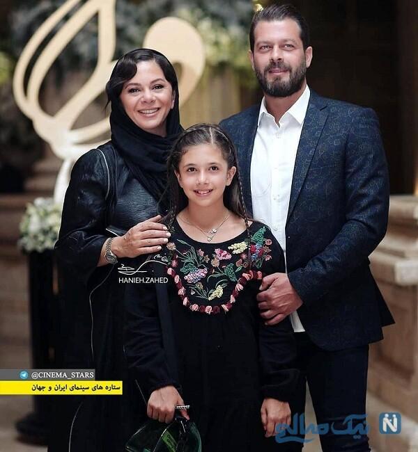 آقای بازیگر درکنار همسر و فرزندش
