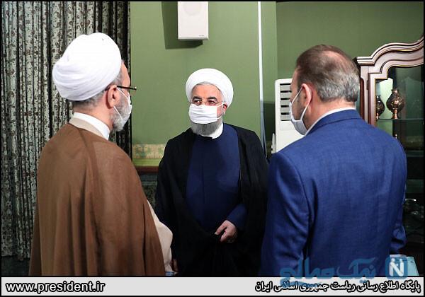 رئیس جمهور با ماسک