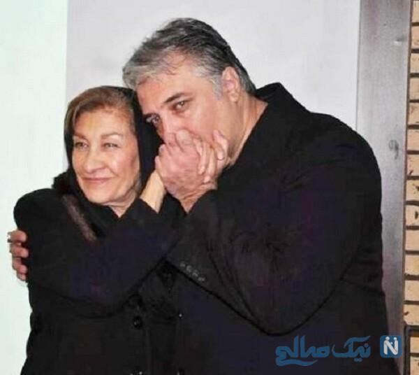 تصویری از ایرج نوذری و مادرش