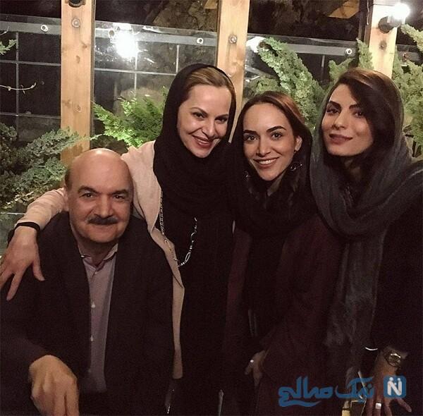 ایرج طهماسب دخترانش و همسرش