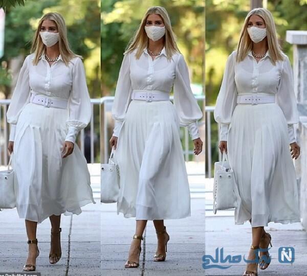 لباس سفید ایوانکا ترامپ