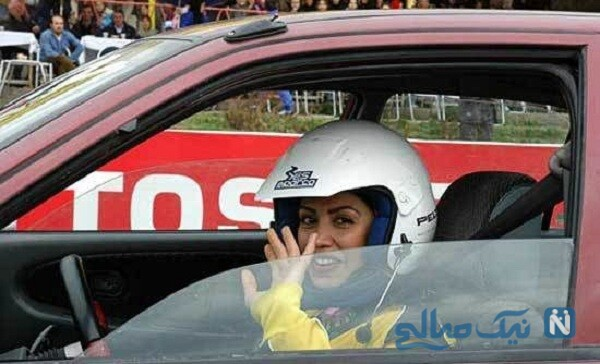 لاله صدیق قهرمان اتومبیلرانی و همسرش